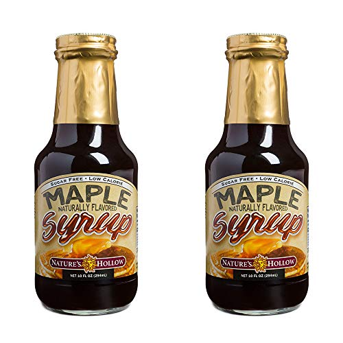 Nature's Hollow, Sugar-Free Maple Flavored Syrup 2-Pack, 10 Ounces ()
