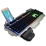 Gaming Keyboard Double Colors Keycap Injection Game Palm Rest Backlight and Keylight Aluminum Panel Game Keyboard for Pro Gamer XSOUL PK900
