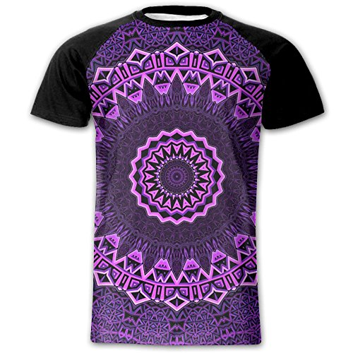 Purple Mandalay Men's 3D Printed T-Shirts Moisture Wicking Short Sleeve Tees