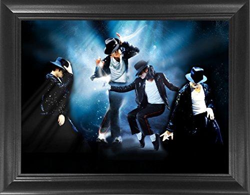 Michael Jackson King of Pop Moonwalk Framed 3D Lenticular Poster - 14.5x18.5