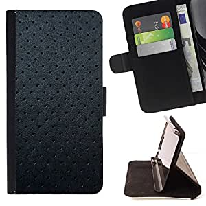 Momo Phone Case / Flip Funda de Cuero Case Cover - Negro del cuero del patrón de la textura Spots Gris - LG G4 Stylus H540