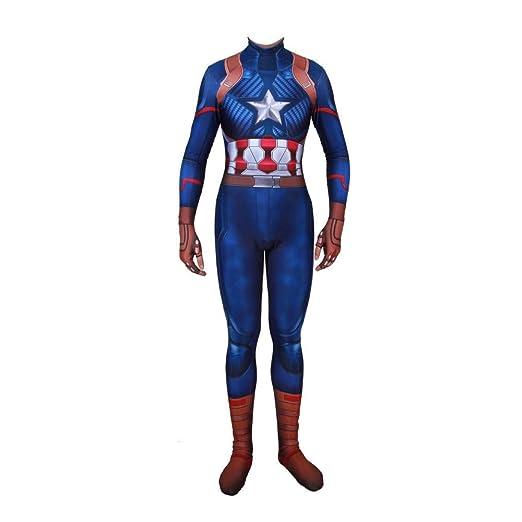 WOLJW Capitán Disfraz Adulto del niño de América del Traje de ...