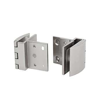 Uxcell 5mm 8mm Thick Wall Mounted Glass Holders Cabinet Door Hinges