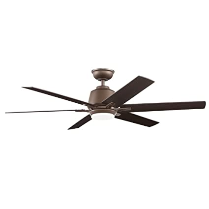 2ffff6fe6cb Home Decorators Collection Kensgrove 54 in. Integrated LED Indoor Espresso  Bronze Ceiling Fan with Light Kit and Remote Control - - Amazon.com