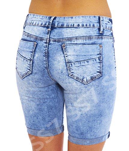 Pantaloncini Bleu Per Donna 16 Taglie Ginocchio Jean 8 Ss7 Jeans zEqvwEp