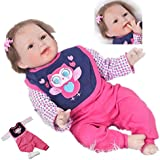 22 Inch Reborn Baby Doll Lifelike Soft Silicone Girls Realistic Newborn Toddler Babies Doll Toy Kids Xmas Gift
