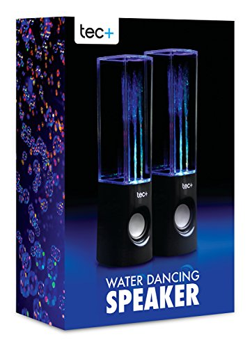 TecPlus Dancing Colour Jet Water Speaker with USB Power Cable Compatible...