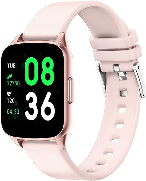 evermotor - Reloj inteligente, pulsera de seguimiento de actividad que registra la frecuencia cardíaca, la presión arterial, la actividad y el sueño, y avisa de llamadas y mensajes