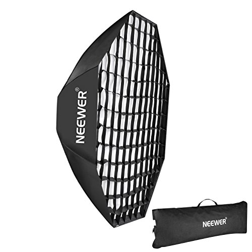 Neewer 55''/140cm Beehive Octagon Umbrella Speedlite Softbox for Nikon, Canon, Sony, Pentax, Olympus, Panasonic Lumix Flash Light, with Bowens Mount by Neewer