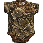 Trail Crest Infant Camo Undershirt- Body Suit, 3-6 Months W/ Magnet, Camo