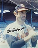 CLAY DALRYMPLE BALTIMORE ORIOLES SIGNED AUTOGRAPHED W/ BAT 8X10 PHOTO W/COA
