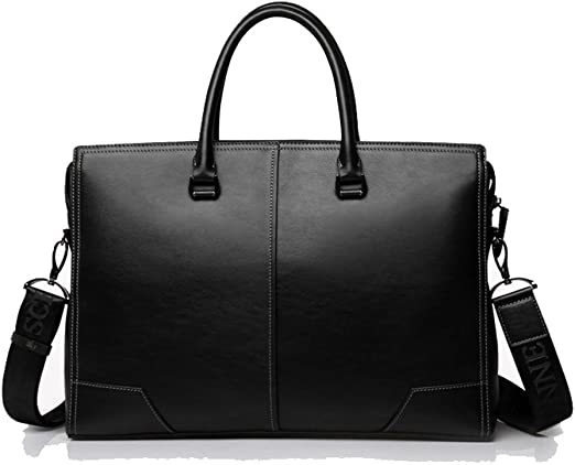 Men/'s Leather Handbag Tote Bag Fashion Casual Briefcase Shoulder Messenger Bags