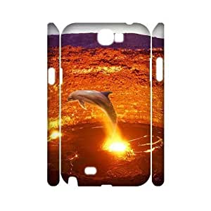 ALICASE Hard case Dolphin 3D Diy For Samsung Galaxy Note 2 N7100 [Pattern-1]