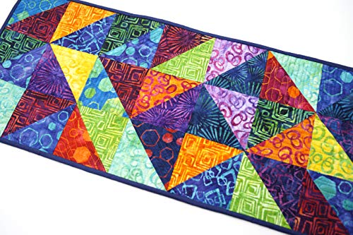 Batik Quilted Colorful Fabric Patchwork Table Runner (Hand Batik Cotton Table Runner)