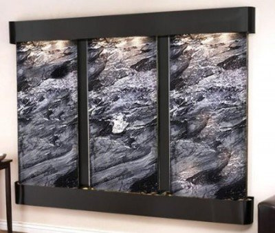 Adagio Deep Creek Falls Fountain w/ Black Spider Marble in Blackened Copper Finish