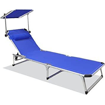 SNAIL Aluminum Folding 4 Reclining Positions Chaise Lounge with Canopy Portable Folding Relaxer Bed for  sc 1 st  Amazon.com & Amazon.com: SNAIL Aluminum Folding 4 Reclining Positions Chaise ...