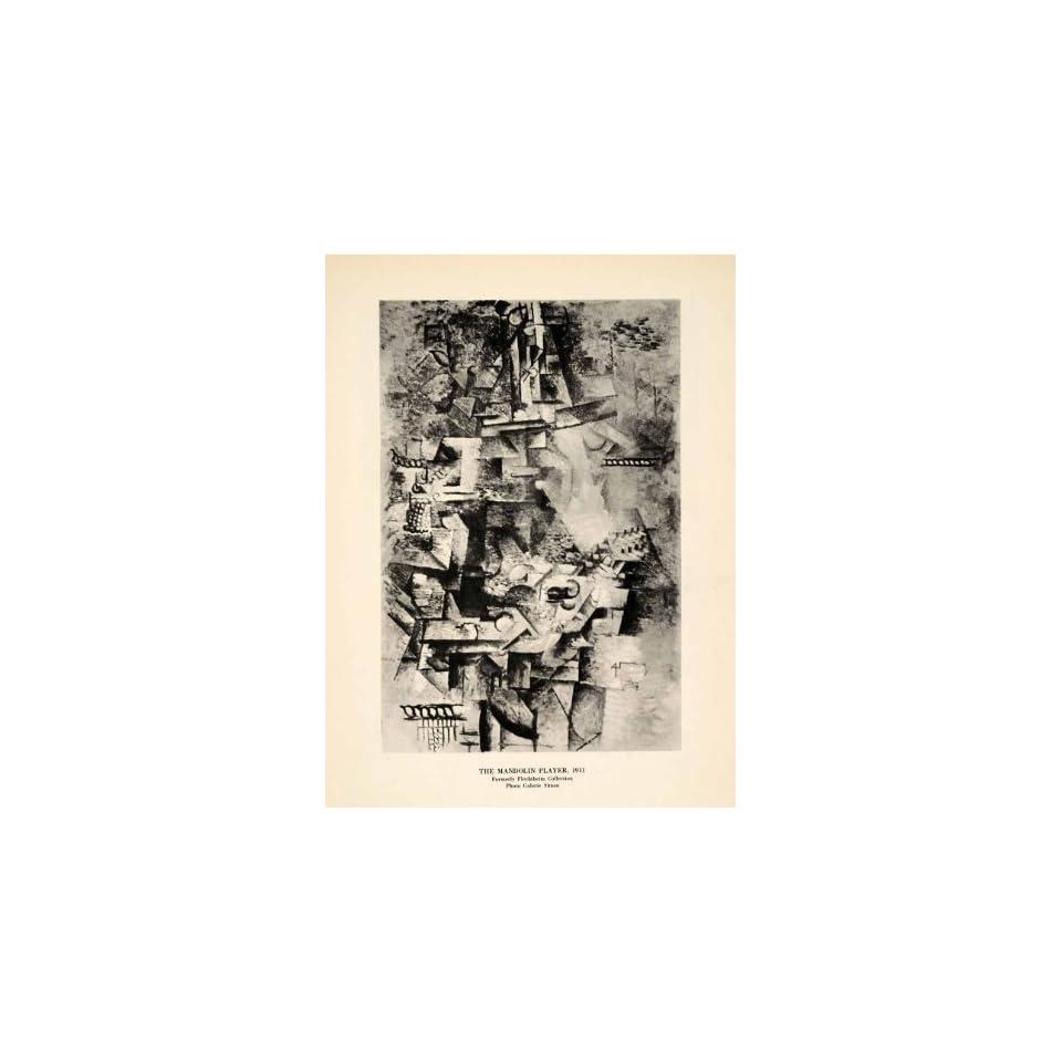 1940 Print Pablo Picasso Mandolin Musician Music Instrument Abstract Modern Art   Original Halftone Print