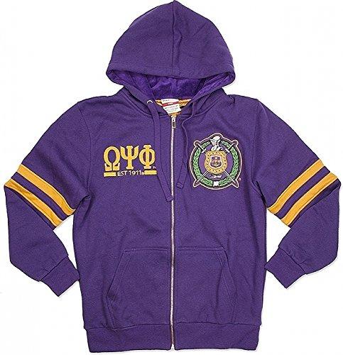 Cultural Exchange Omega Psi Phi Divine 9 Mens Zip-up Hoodie Jacket [Purple - XL]