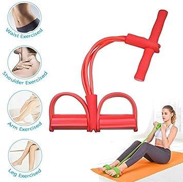 Babiniya Corde de Tension multifonctionnelle,4 Cordes de p/édale pour Tube Bandes dexercice de Musculation Expander pour Le Gymnase /à la Maison