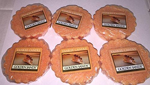 Yankee Candle Lot of 6 Golden Sands Tarts Wax Melts