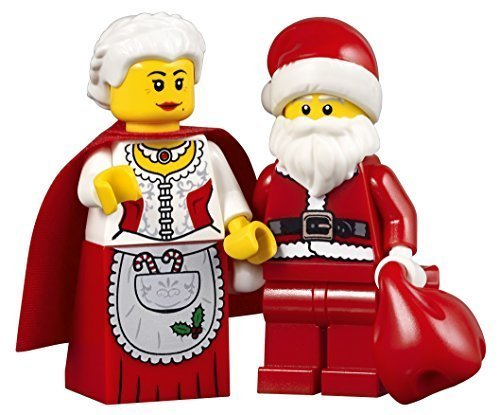 (LEGO Holiday Creator Set of 2 Minifigures - Mrs. Claus and Santa with Red Sack (10245))