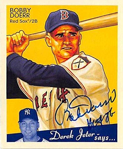 Bobby Doerr autographed baseball card (Boston Red Sox) 20...