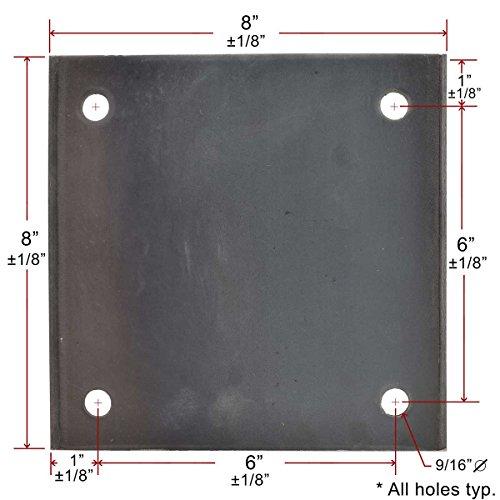 "1//8/"" Steel Plate 1//8/"" x 6/"" x 10/"" 11ga A36 Steel"