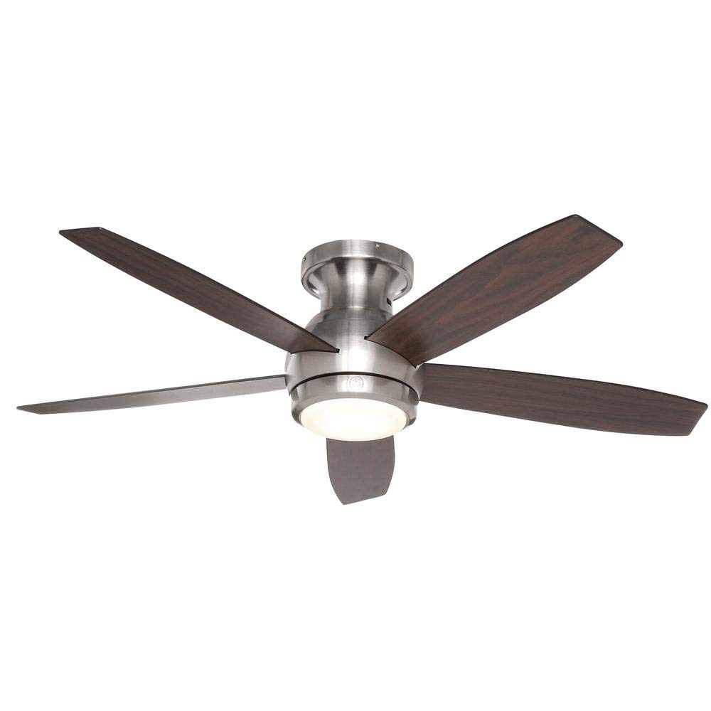 Treviso 52 in. Brushed Nickel Indoor LED Ceiling Fan by GE, Ceiling ...