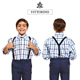 Vittorino Boys' Dress Shirt with Matching Bowtie
