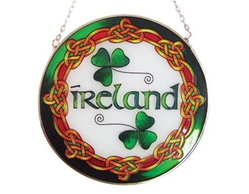 Stained Glass Window Hang - Ireland Round 16cm ()