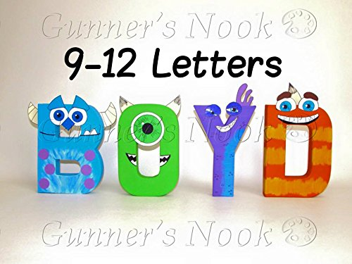Amazoncom Gunners Nook Monsters Inc Character Letter Art