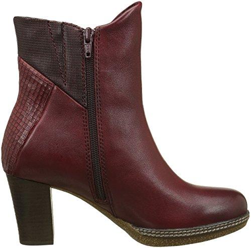 Gabor Shoes Comfort Sport, Botines para Mujer Rojo (dark-red micro)