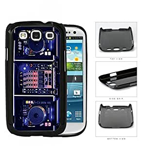 DJ Turntables With Glow Neon Lights Hard Plastic Snap On Cell Phone Case Samsung Galaxy S3 SIII I9300