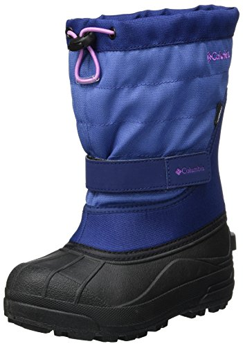 Columbia Girls' Youth Powderbug Plus II Snow Boot, Eve, Northern Lights, 4 M US Big Kid