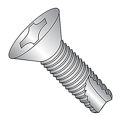 #8-32 Thread Size Phillips Drive Pack of 100 1//2 Length 1//2 Length Zinc Plated Type 23 Steel Thread Cutting Screw 82 Degree Flat Head Small Parts 08083PF Pack of 100