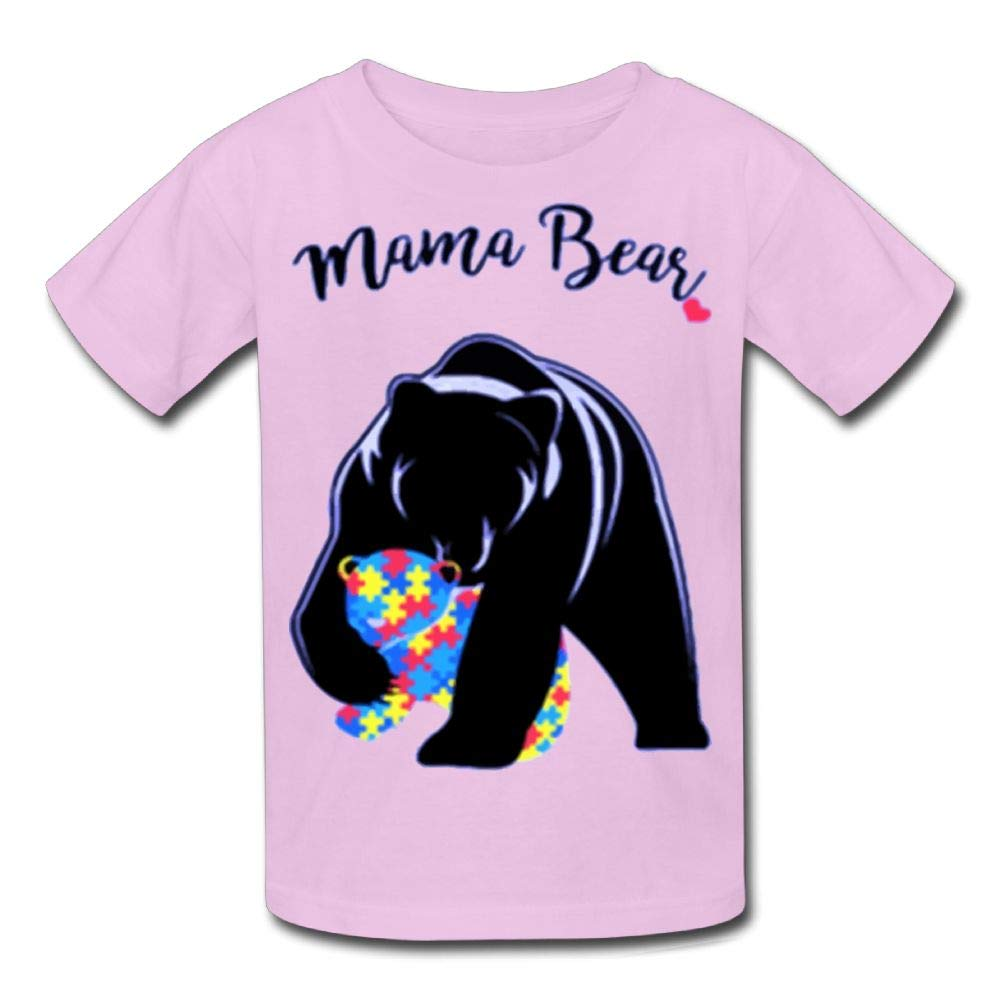 Short-Sleeve Shirt Autism Awareness Mama Bear Youth Girls'