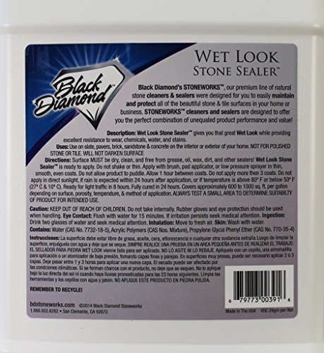 Wet Look Natural Stone Sealer From Black Diamond Stoneworks Provides  Durable Gloss And Protection To: Slate, Stone, Concrete, Brick, Block,  Sandstone, ...
