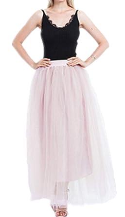 Maxi Falda para Mujer Tutu Enagua Hilo Color Sólido Mode De Marca ...