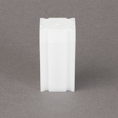 (5) Coinsafe Brand Square White Plastic (Quarter) Size Coin Storage Tube Holders