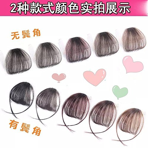 Air real hair wig piece invisible trace slim canopy loose natural-look piece Qi flow of the sea left the sea bangs piece