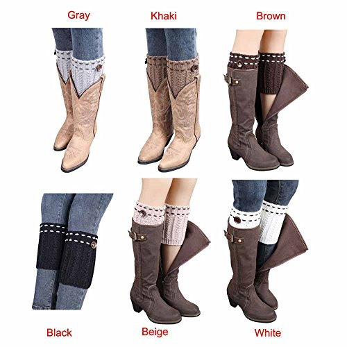 : Cleanrance! WILLTOO 2015 Women Leg Warmer Knit Boot Socks Topper Cuff