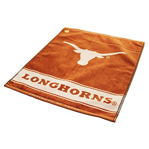 Team Golf NCAA Texas Longhorns Jacquard Woven Golf Towel, 16