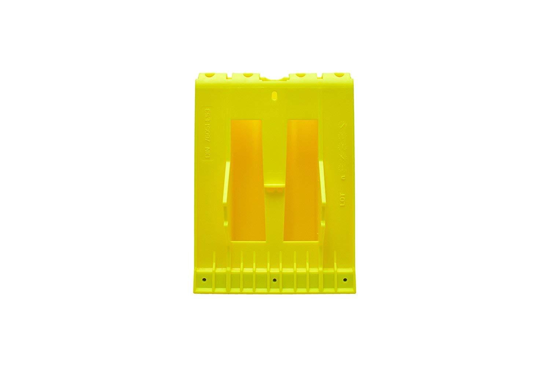 Cuña de plástico, amarilla, con protección galvanizada antideslizante, para camión o autobús: Amazon.es: Coche y moto