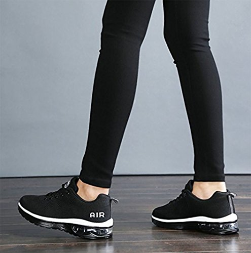 Men's Jogging 5 Unisex Sneakers Fitness Air Sports 5 Shock Shoes Black Walking Size 9 Trainers GFONE Running Women's 2 Absorbing z5EUOqwRn