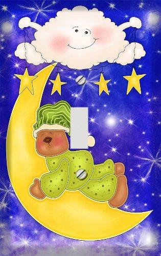 Sleepy Celestial Teddy Bear Switchplate - Switch Plate Cover (Teddy Switchplate)