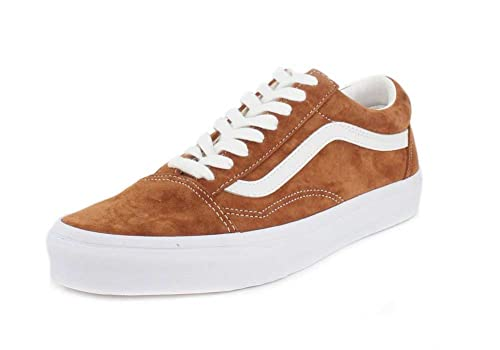 709a31121d4f2b Vans Old Skool Leather Brown True White  Amazon.co.uk  Shoes   Bags