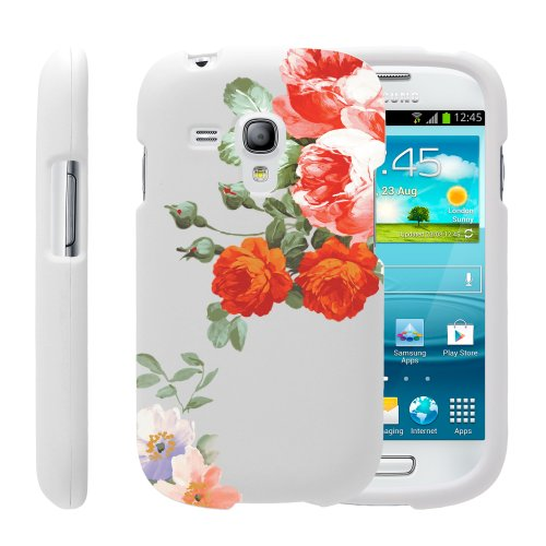 MINITURTLE, 3 in 1 Slim Fit Graphic Design Image 2 Piece Snap On Hard Phone Case Cover, Stylus Pen, and Clear LCD Screen Protector for Android Smartphone Samsung Galaxy S3 III Mini I8190 (Romantic Flowers) (Samsung Galaxy S3 Mini Clear Case compare prices)