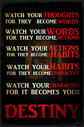 Keen Watch Your Thoughts Words Actions Habits Character Destiny Classroom Wall Poster Print|12 X 18 in -