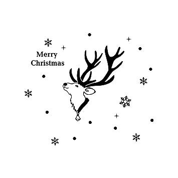 75x65cm christmas stickerslovewe 2019 new year merry christmas snowflake wall stickerchristmas shop