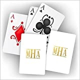 Monogram Personalized Playing Cards - 3995M